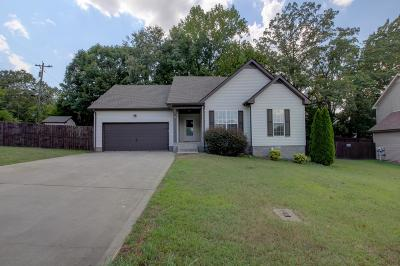 Clarksville TN Single Family Home Under Contract - Not Showing: $153,000