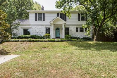 Nashville Single Family Home For Sale: 919 Battlefield Dr