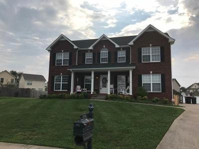 Clarksville Single Family Home For Sale: 3721 Meadow Knoll Ct