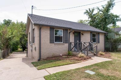Nashville Single Family Home Under Contract - Not Showing: 2707 Buchanan St