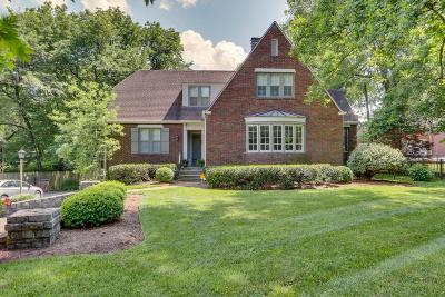 Nashville Single Family Home For Sale: 1023 Woodmont Blvd