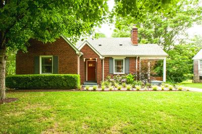 Nashville Single Family Home For Sale: 3508 Robin Road