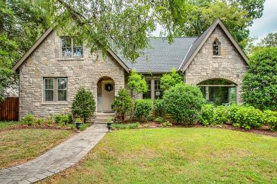 Nashville Single Family Home For Sale: 178 Woodmont Blvd