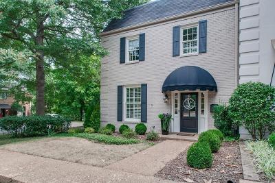 Nashville Condo/Townhouse For Sale: 4400 Belmont Park Ter Apt 147