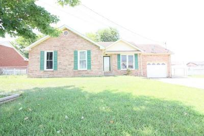 Christian County, Ky, Todd County, Ky, Montgomery County Single Family Home For Sale: 1646 S Jordan Dr