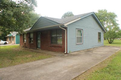 Christian County, Ky, Todd County, Ky, Montgomery County Single Family Home For Sale: 100 E St