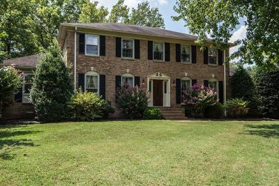 Brentwood Single Family Home Under Contract - Showing: 1805 Harpeth River Dr