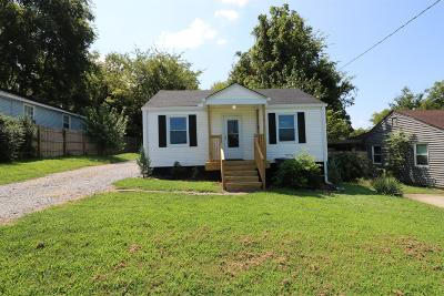 Nashville Single Family Home Under Contract - Not Showing: 823 W McKennie Ave