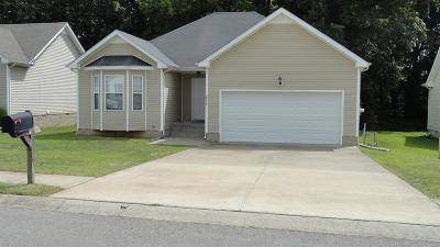 Clarksville Single Family Home Under Contract - Not Showing: 2849 Teakwood Dr