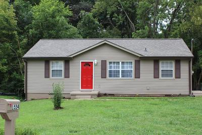 Clarksville Single Family Home For Sale: 1554 Cherry Tree Dr