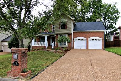 Old Hickory Single Family Home For Sale: 1961 Dunedin Dr