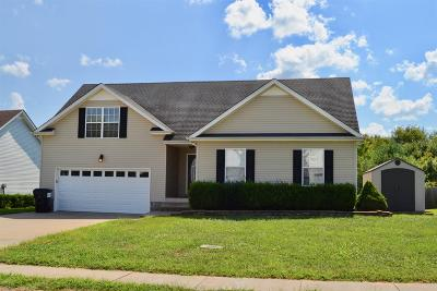 Clarksville Single Family Home Under Contract - Not Showing: 832 Cindy Jo Ct