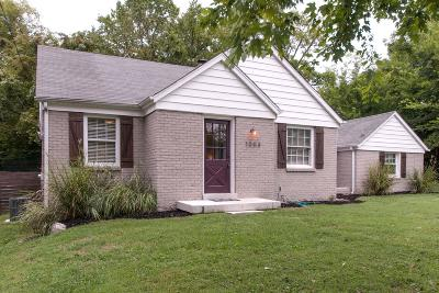 Nashville Single Family Home Under Contract - Showing: 1003 Dozier Pl