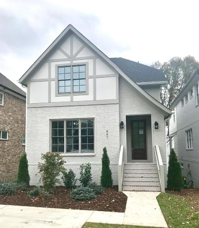 Nashville Single Family Home For Sale: 847 Clayton Ave