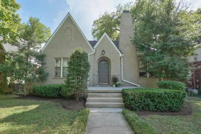 Nashville Single Family Home For Sale: 2617 Sunset Pl