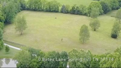 Spring Hill  Residential Lots & Land For Sale: Bates Ln