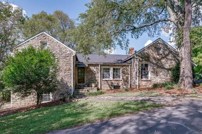 Nashville Single Family Home Under Contract - Not Showing: 1250 Davidson Rd