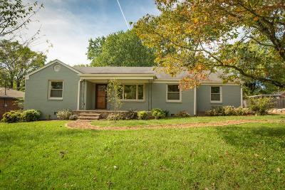 Nashville Single Family Home For Sale: 2604 Barclay Dr