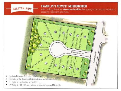 Franklin Residential Lots & Land For Sale: 422 Dragonfly Ct