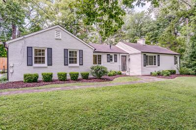 Nashville Single Family Home Under Contract - Showing: 806 Forest Acres Dr