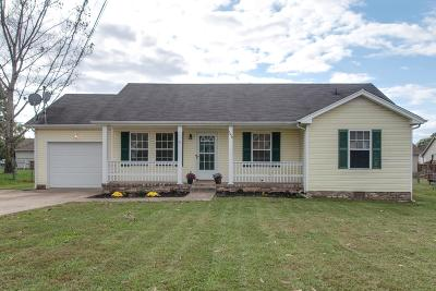 Clarksville TN Single Family Home Under Contract - Not Showing: $132,500