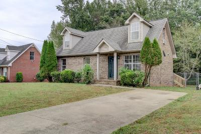 Clarksville TN Single Family Home Under Contract - Not Showing: $125,000