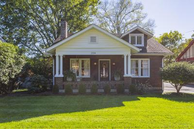 Nashville Single Family Home Under Contract - Showing: 2108 Early Ave
