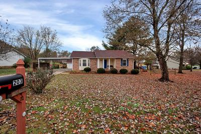 Springfield TN Single Family Home For Sale: $190,000