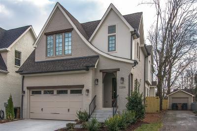 Nashville Single Family Home For Sale: 1005 A Grandview Dr