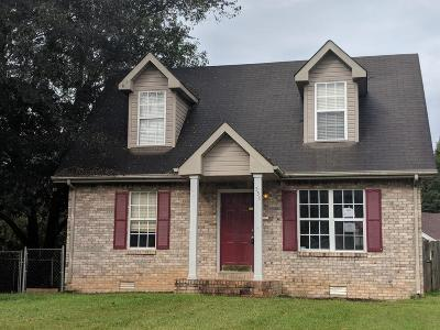 Clarksville Single Family Home Under Contract - Not Showing: 558 Carmack Dr