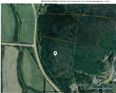 Cannon County Residential Lots & Land For Sale: 5425 Bradyville Rd