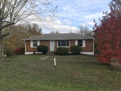 Ashland City Single Family Home Under Contract - Not Showing: 109 Krantz Ct