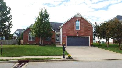 Clarksville Single Family Home Under Contract - Showing: 1160 Meadow Knoll Ln