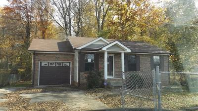 Clarksville TN Single Family Home For Sale: $79,000