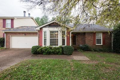 Brentwood TN Condo/Townhouse Under Contract - Showing: $289,500