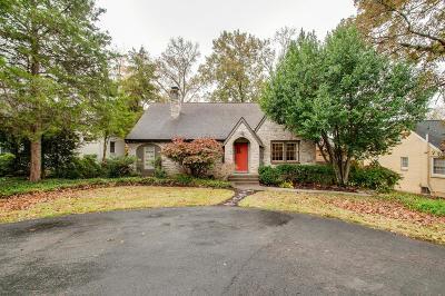 Nashville Single Family Home For Sale: 4019 Woodmont Blvd