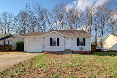 Clarksville Single Family Home Under Contract - Not Showing: 351 Lafayette Point Cir