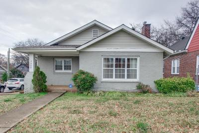 Nashville Single Family Home For Sale: 2300 10th Ave S