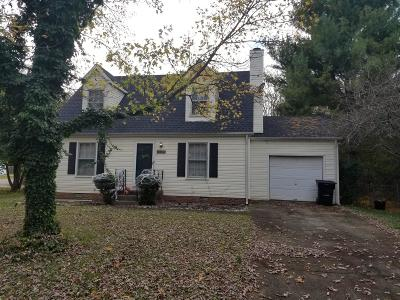 Murfreesboro Single Family Home Under Contract - Showing: 1135 Woods Edge Dr