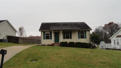 Clarksville TN Single Family Home For Sale: $93,000
