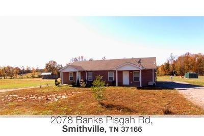Smithville Single Family Home For Sale: 2078 Banks Pisgah Rd