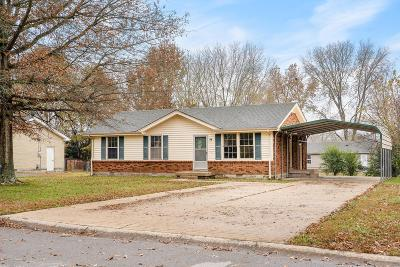Clarksville TN Single Family Home For Sale: $105,900