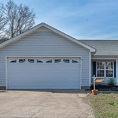Murfreesboro TN Single Family Home Under Contract - Not Showing: $205,000