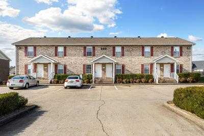 Clarksville Condo/Townhouse Under Contract - Not Showing: 394 Jack Miller Blvd Apt C