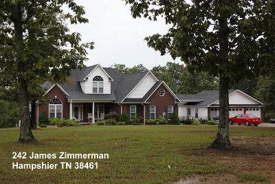 Hampshire Single Family Home For Sale: 242 James Zimmerman Rd