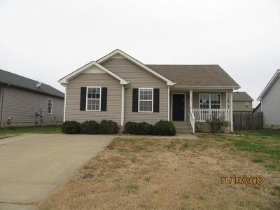 Clarksville Single Family Home Under Contract - Showing: 513 Oakmont Dr