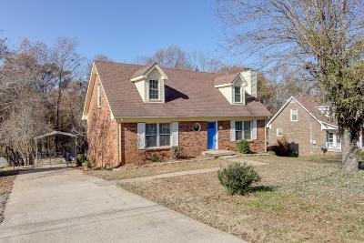 Clarksville TN Single Family Home Under Contract - Not Showing: $190,000