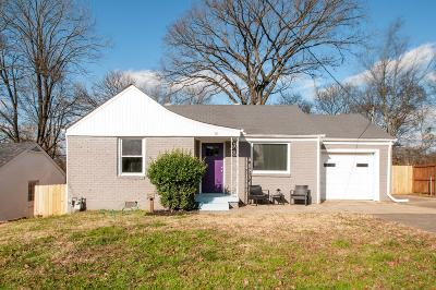 East Nashville Single Family Home Under Contract - Showing: 519 Wesley Ave