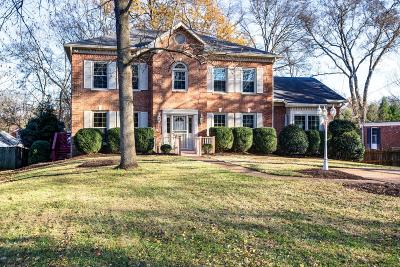 Nashville Single Family Home Under Contract - Showing: 3504 Lealand Ln
