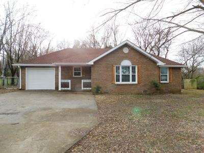 Clarksville TN Single Family Home Under Contract - Not Showing: $146,900